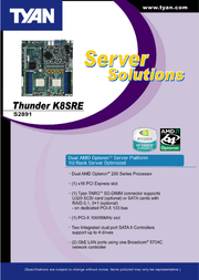 Tyan Thunder K8SRE (S2891) S2891G2NR Leaflet