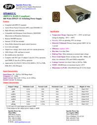 Sparkle Technology SPI4601UG SPI4601UG-B204 Leaflet