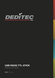 Deditec USB-RS232-TTl Stick Data Sheet