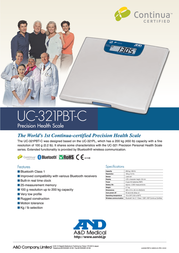 A&D UC-321PBT-C Leaflet