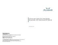Planar Systems 997-3283-00 Leaflet