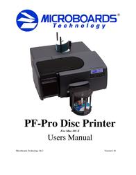 Microboards Technology PF-Pro Disc Printer User Manual