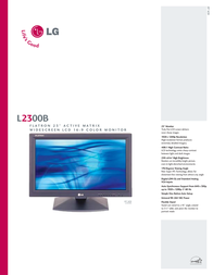 "LG L2300B 23""TFT 1920x1200 wide16:9 bl a d L2300B Листовка"