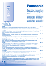 Panasonic WHUD16CE5A Operating Guide