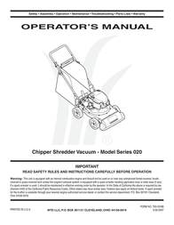 MTD Series 020 User Manual