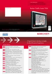 Becker Traffic Assist 7926 1854.224 Leaflet
