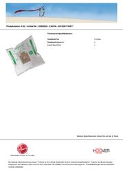 Hoover H 63 H63 Leaflet
