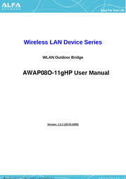 Alfa AWAP08O-11gHP User Manual