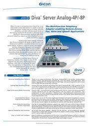 Dialogic Eicon Diva Server Analog-4P 306-232 Leaflet
