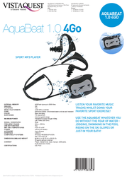 Speedo AquaBeat 1.0 4GB 263367 Leaflet