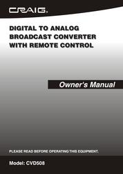 Craig CVD508 User Manual