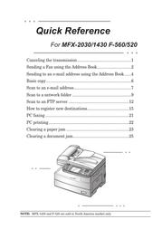 Muratec F-560 User Manual