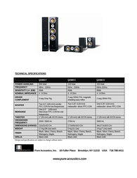Pure Acoustics QX900C Specification Guide