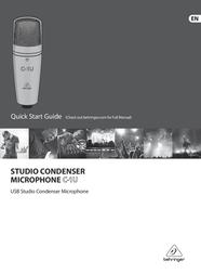 Behringer C-1U Quick Setup Guide