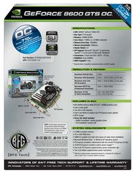 BFG Tech 8600 GTS OC 256MB 150826 Leaflet