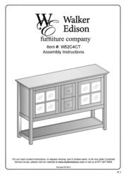 Walker W52C4CTBL User Manual