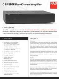 NAD C 245BEE User Manual