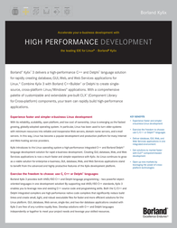Borland Kylix 3 Enterprise HDE7030WWFS180 Leaflet