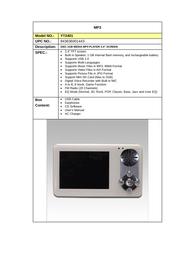 Diablotek yt2401 Specification Guide