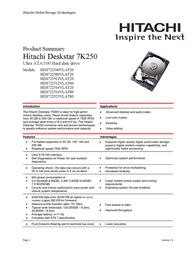 HGST VANCOUVER III 80GB 08K0462 User Manual