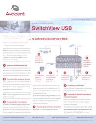 Avocent SwitchView USB 2-port Switch - 2-port, single user KVM switch SV1200UP-EU Leaflet