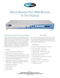 Gefen EXT-HDMI-442 Leaflet