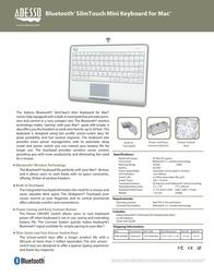 Adesso WKB-4000BM Leaflet