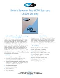 Gefen EXT-HDMI-241N Leaflet