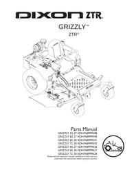 Dixon 30 KOH/968999591 GRIZZLY 72 User Manual