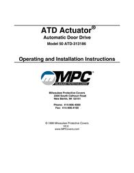 MPC ATD ACTUATOR 50 ATD-313186 User Manual
