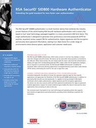 RSA Security SID800-6-60-36-250 Leaflet