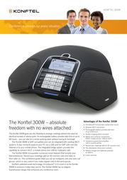Konftel 300W wireless conference phone 910101066 Leaflet