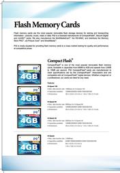 PQI MEM CF PQI Compact Flash 24x 256Mb AC0256M281 Leaflet