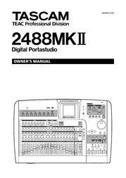 Tascam 2488mkII User Manual