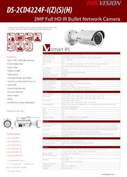 Hikvision Digital Technology DS-2CD4224F-IZS Leaflet