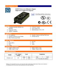 Phihong POE36U-1AT User Manual