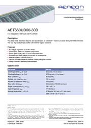 Infineon DDR2-RAM DIMM 512MB 667MHz CL5 AET660UD00-30D Data Sheet