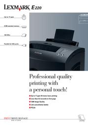 Lexmark E220 MONO LASER 20S0014 Leaflet