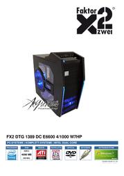 Faktor Zwei DTG 1389 811139 User Manual