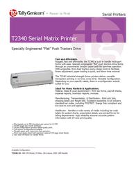 TallyGenicom T2340 Serial Matrix Printer 043262 User Manual