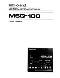 Roland Switch MSQ-100 User Manual