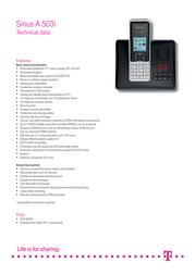 Deutsche Telekom Sinus A 503i 40255872 Leaflet