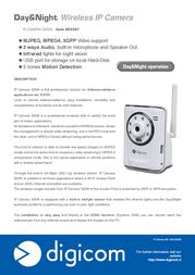 Digicom IP CAMERA 300W 8E4387 Leaflet