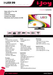 i-Joy iled39SHFPB01 I-LED 39 Folheto