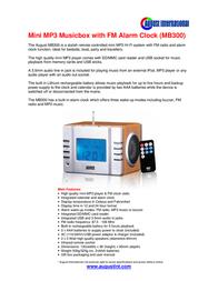 August MB300 Leaflet