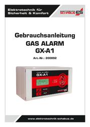 Schabus Gas detector 200892 mains-powered detects Butane, Carbon dioxide, Carbon monoxide, Methane, Propane 200892 User Manual