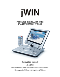jWIN JD-VD762 User Manual