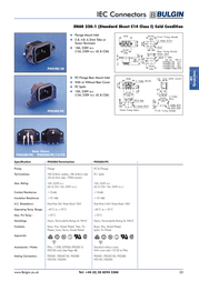 Eska Bulgin IEC connector C14 Plug, vertical mount Total number of pins: 3 + PE 10 A Black PX0580/28 1 pc(s) PX0580/28 Data Sheet