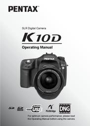 Pentax K10D User Manual