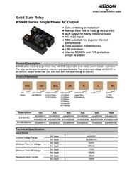 Kudom Solid State Overload Relay Ksi480 D10 Lm KSI480 D10 LM Data Sheet